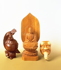 image Ichii Itto carving (yew carving)